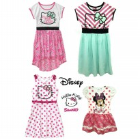 Branded Dress for Toddler - Sanrio Hello Kitty & Disney Minnie Mouse Dress (3-12tahun)