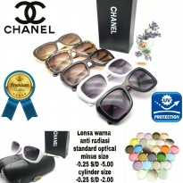 Chanel optical Sunglasses dgn lensa warna minus silinder normal