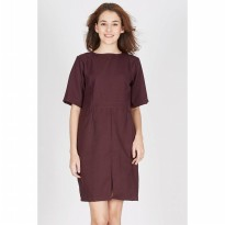 Francine Maroon Slit Dress
