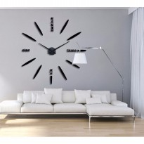 Jam Dinding Besar DIY Giant Wall Clock Diameter 80-130cm - Black ELET00661