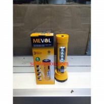 Meval Senter Rechargeable Handy Torch Lamp with 4 LED Night Light