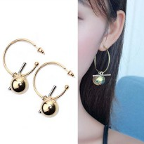 Hollow Large Ring Earrings - Gold