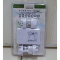 CHR5v01 5XUSB TRAVEL CHARGER + 4 PLUG