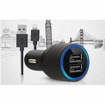 BELK-007 Belkin 2Port Car Charger + Iphone5 Cable (2in1)