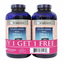 Wellness Omega 3 1000 MG (375 Softgels) Buy 1 Get 1 Free