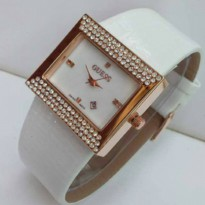 JAM TANGAN GUESS SQUARE LEATHER KW SUPER