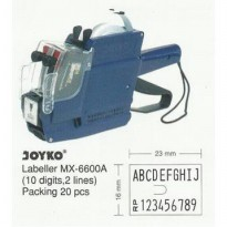 JOYKO Price Labeller MX-6600A (10 digits, 2 lines) (Mesin Harga)