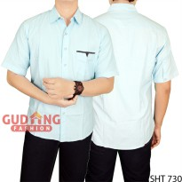 Casual Slim Fit Short Sleeve Man Shirts SHT 730
