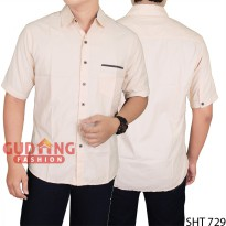 Man Slim Casual Short Sleeved Shirt SHT 729