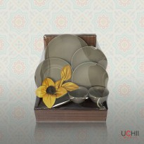 UCHII CERAMIC Little Family Dinner Set - NORDIC STYLE | Paket Keramik