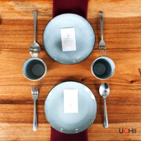 UCHII CERAMIC Couple Little Set - HIDDEN MOON PATTERN | Paket Keramik