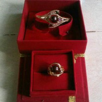 Set Rhodium Mutiara Air Tawar Super