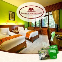 Superior Twin Bed without AC Weekend include 2 ticket Taman Safari Indonesia