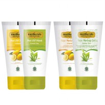 (2 pcs) Mustika Ratu - DUO FACE CARE Peeling Gel dan Peel Off Masker (Lemon/Green Tea)