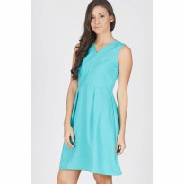 [BERRYBENKA] Gellar Green Flare Dress