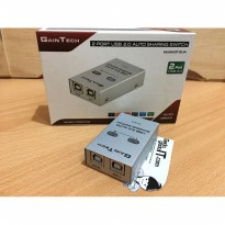 GAINTECH USB Sharing Switch 2 Port USB 2.0 Auto Switch Printer Sharing