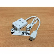NETLINE Cable/Kabel HDMI To VGA Adapter With Audio Output Jack 3.5mm