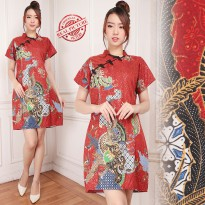Glow Fashion Dress batik cheongsham maxi pendek wanita jumbo mini dress Nandini
