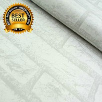 Wallpaper Sticker Premium 10 Meter - Batu Bata Putih