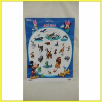 Poster Educational Chart: Hello Kitty Sanrio Animal Zoo Binatang Anak