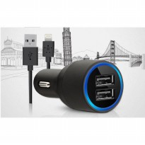CAR CHARGER [BELKIN] ORIGINAL BELKIN CAR CHARGER DUAL PORT USB CHARGING