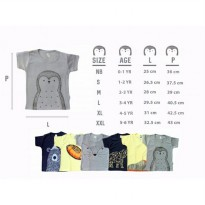 (Terbatas) KAZEL T-SHIRT PENGUIN EDITION (SNI) I BOX ISI 6PCS