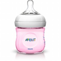 Philips Avent SCF691-17 Natural Botol Susu - Pink [125 mL]