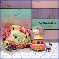 Snowball / Pajangan Bola Kaca Large Sanrio Hello Kitty Birthday