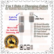 Kabel Data 2 in 1 (Android + iPhone)