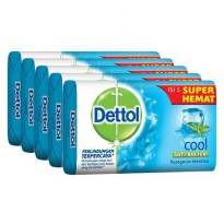 Dettol Bar Soap Cool 105g Hemat 5pcs