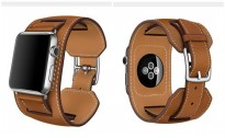 Apple Watch 38 mm Series 1 & 2 - Genuine Leather Double Band Strap