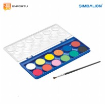 SIMBALION Water Color Cake WCC 12 Warna