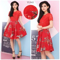 DRESS IMLEK   CNY DRESS - RED COLLECTION - DRESS BATIK 473b51f531