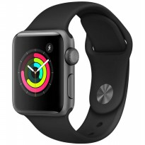 Apple iWatch Series 3 GPS 38mm Space Gray Black Sports Band