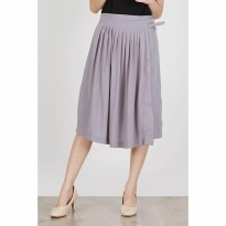 [BERRYBENKA] Cerleon Pleat Skirt in Grey