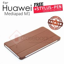 Huawei Mediapad M1 8 S8-301 - Vintage Leather Flip Case Cover