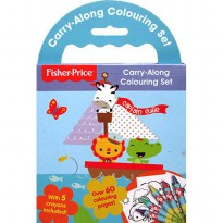[Hellopandabooks] Fisher Price Carry-Along Colouring Set with 5 crayons