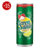 GREEN SANDS Lychee Lime Can 250ml (1 Karton Isi 35)