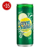 GREEN SANDS Apple Lime Can 250ml (1 Karton Isi 35)