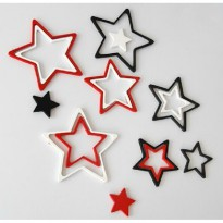 [ BINTANG STICKER DINDING ] 3D Wall Sticker STAR bahan kayu ringan