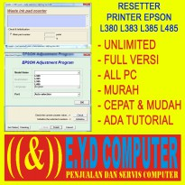 RESSETER EPSON L380 L383 L385 L485 UNLIMITED BANYAK PC RESETTER ALL PC RESET RESETER PRINTER PRINT SOFTWARE APLIKASI ADJPROG ADJUSMENT