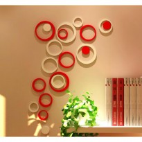 [ BULAT STICKER DINDING] 3D Wall Sticker Model BULAT bahan kayu ringan