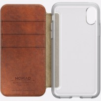 Nomad Clear Folio Case iPhone X - Brown