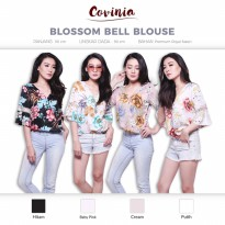 CRG171271 - Blossom Bell Blouse Swivel Kimono Top Vneck Floral Top