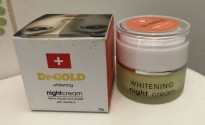 DR.GOLD DR GOLD Whitening Night Cream 20GR Krim Malam Perawatan Kulit Wajah 200 GR BPOM BEST SELLER