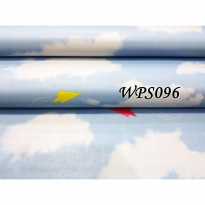 Wallsticker Roll Wallpaper Sticker awan Pesawat Biru Muda