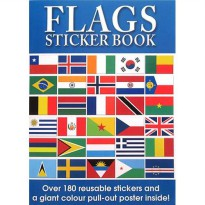 [Hellopandabooks] FLAGS Sticker Book with over 180 Reusable Stickers and a Giant Colour