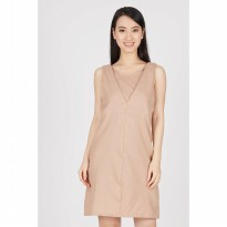 Gildore Biege Cut Out Dress