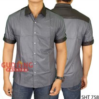 Mens Stylish Slim Casual Short Sleeved Shirts SHT 758