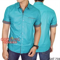 Mens Slim Casual Short Sleeve Stylish Shirts SHT 759